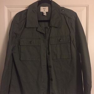 F21 Army Green Utility Button Up Jacket